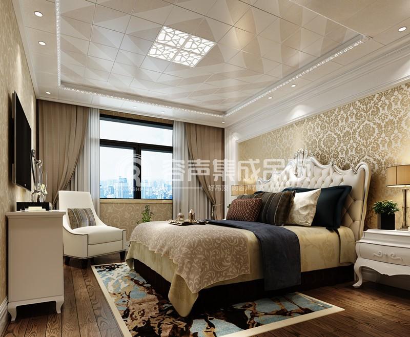 既缔造出与众不同的现代经典家装吊顶世界,又创造了一个个轻奢的卧室图片